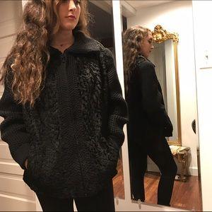 Fabulous Furs Jackets & Blazers - One of a Kind Black Wool Sweater