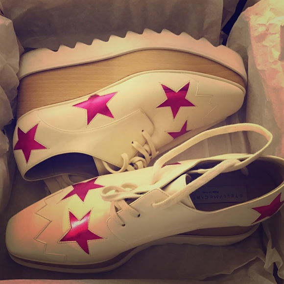 6cd4294b03b0 Stella McCartney  Elyse Star  Lace-Up Platforms.  M 5850b3244225beeded09d42b. Other Shoes ...
