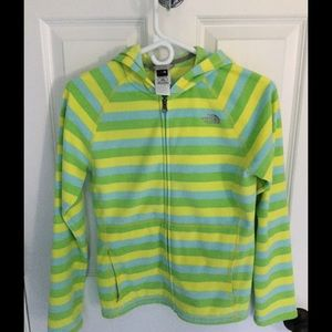 The North Face Other - Girls The North Face striped zip fleece Size L