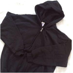 Gildan Other - Black Heavy Blend Zip Up Hooded Sweatshirt