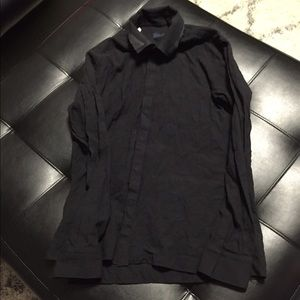 Lanvin Tops - Lanvin Black Dress Shirt