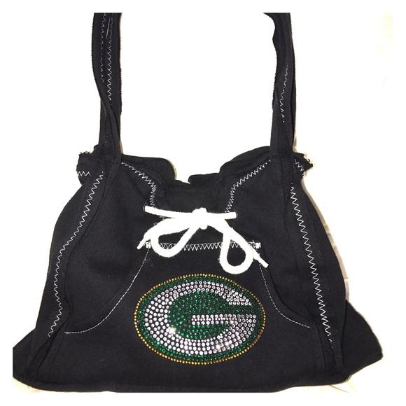Green Bay Packers NFL Team black hoodie purse. 55376aed8