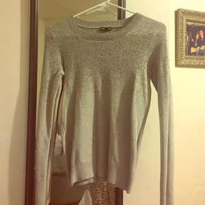 Express Gray Sparkle Sweater!