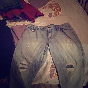 Distressed jeans Ann Taylor