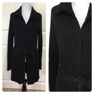 J. Crew ribbed belted cardigan