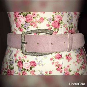 Fabi Accessories - NWOT FABI MAUVE LEATHER BELT GUN METAL BUCKLE 38""