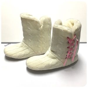 Pink Cookie Shoes - cozy house booties