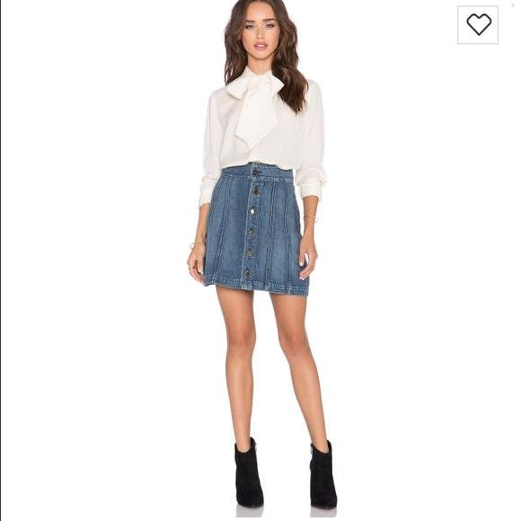 1ca78e038 Frame Denim Skirts   Frame Le Panel Denim Mini Skirt Never Worn ...
