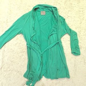 Green blouse t shirt cardigan Evolution by Cyrus M