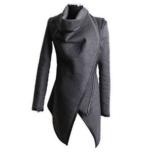 Jackets & Blazers - SALE! 🎉Gray HighNeck Waterfall Wrap-Black Trim