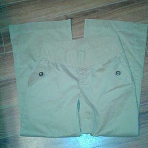 maternity linen gap pants
