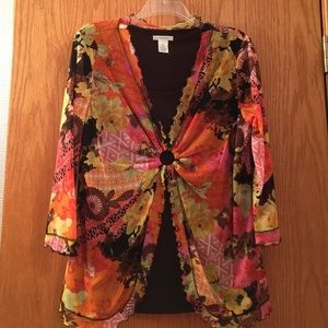 Laura Ashley Tops - Brown and colors top