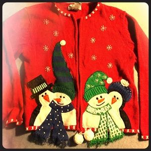Heirloom Collectibles Other - Winter Themed Sweater, Girls 12/14, Zipper Front