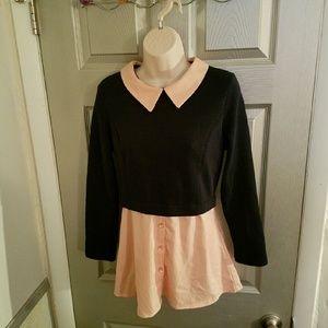 ROMWE Tops - Sale Romwe Varsity Sweater with Collard Shirt