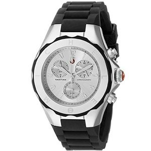 Michele  Accessories - NWT Michele Tahitian black and sliver watch