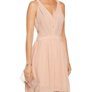 Maje Dresses & Skirts - Maje pink pleated dress NWT Sz 4
