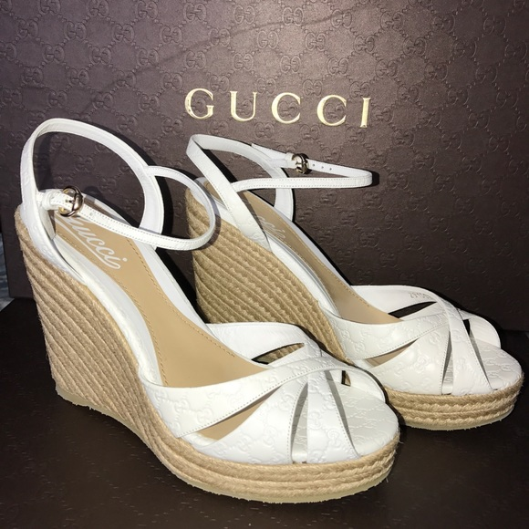 f0ba0f9021a7 New GUCCI Penelope Strappy Espadrille Wedge