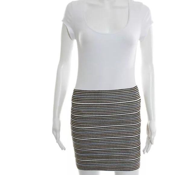 655e1c8636 Anthropologie Skirts | Pleasure Doing Business Bandage Striped Skirt ...