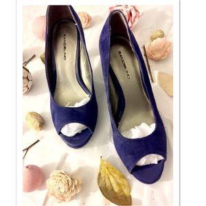 Bandolino Shoes - NEW Bandolino Blue Suede Open Toed Heels