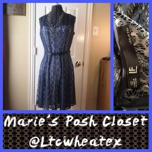 Leslie Fay Dresses & Skirts - Lacey Blue Dress
