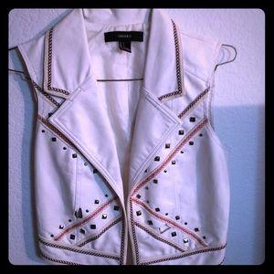 Forever 21 studded leather vest