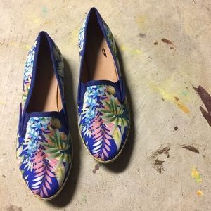 Plume by Faryl Shoes - Blue Tropical Print Shoes