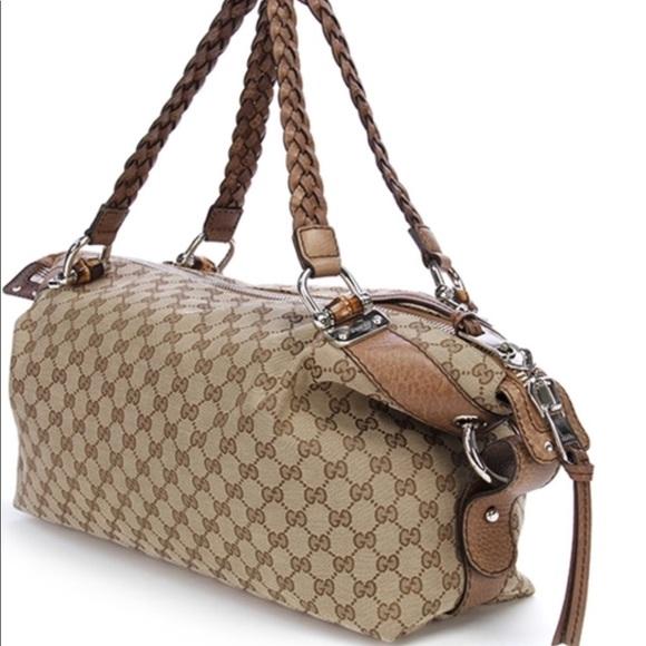 28c7550f8be Gucci Handbags - Gucci bamboo bar tote