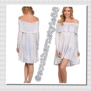 Off The Shoulder Long Sleeve Dress Small BNWT