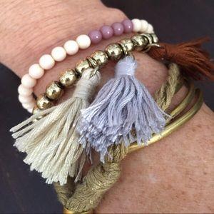 Free People tasseled bracelet