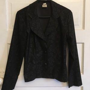 Jackets & Blazers - Black brocade jacket Size 7