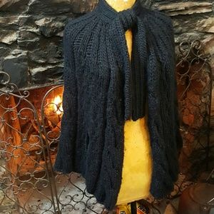 Anthropologie Jackets & Blazers - Bellekat chunky sweater cape Gorgeous!
