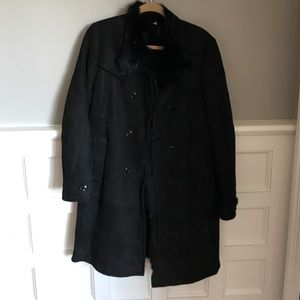 Authentic Burberry shearling coat fur lined