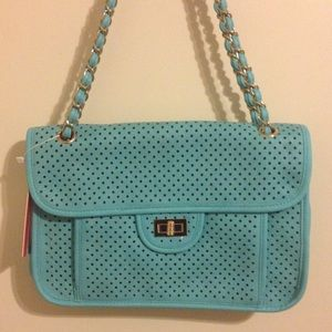 SaleNWT Pink Haley Aqua Shoulder Bag