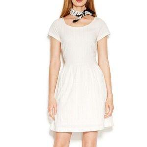 Maison Jules damask off-white dress