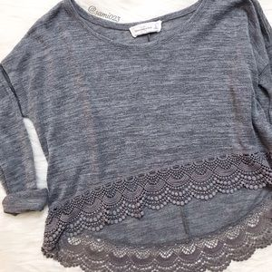 Abercrombie & Fitch Sweaters - Abercrombie & Fitch • Eyelash Lace Trim Sweater
