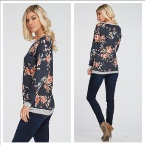 SALE! Floral sweater tee
