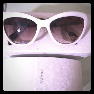 Cat eye Prada white sunglasses