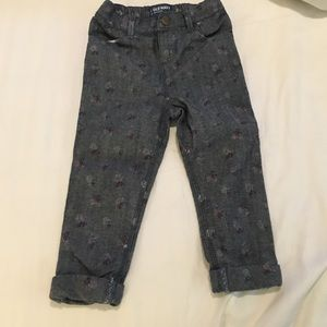 Old Navy 18-24 mos Jeans with flowers NWOT