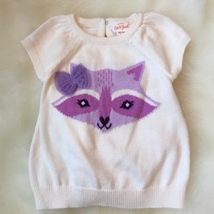 Cat & Jack Other - Fox Sweater Dress & Diaper Cover
