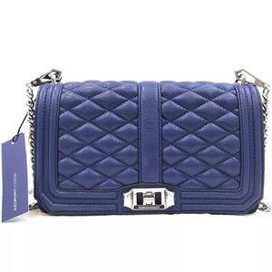 Rebecca Minkoff Royal Blue Love Crossbody Handbag