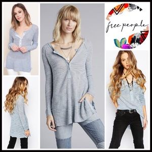 Free People Tops - ❗1-HOUR SALE❗FREE PEOPLE TUNIC HENLEY