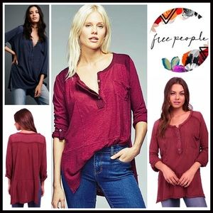 Free People Henley Tunic Tee