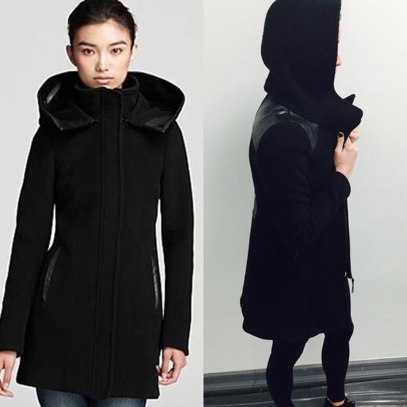 291da98d8fc Mackage Jackets   Blazers - Mackage hooded wool coat with leather detail