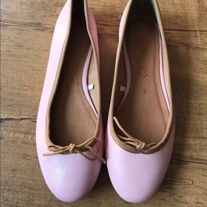 Joe Fresh pink ballerina flats