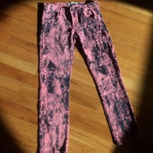 TEXTILE Elizabeth and James Denim - Textile skinny stretch jean pink/snakeskin pattern