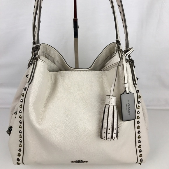 a4b81801ca Coach Handbags - Coach Edie 31 Floral Rivets Leather Shoulder Bag