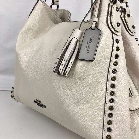 080549c390 ... Coach Bags - Coach Edie 31 Floral Rivets Leather Shoulder Bag ...