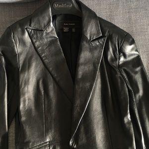 ZARA leather blazer size medium