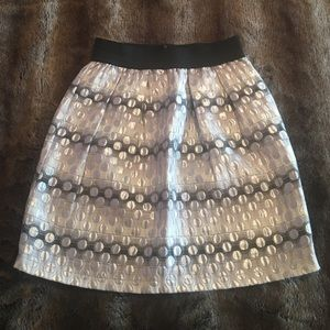 Aqua Silver Metallic Skirt