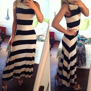 Polo by Ralph Lauren Dresses & Skirts - 🎉HP RALPH LAUREN Cream & Black Stripe Maxi Dress!
